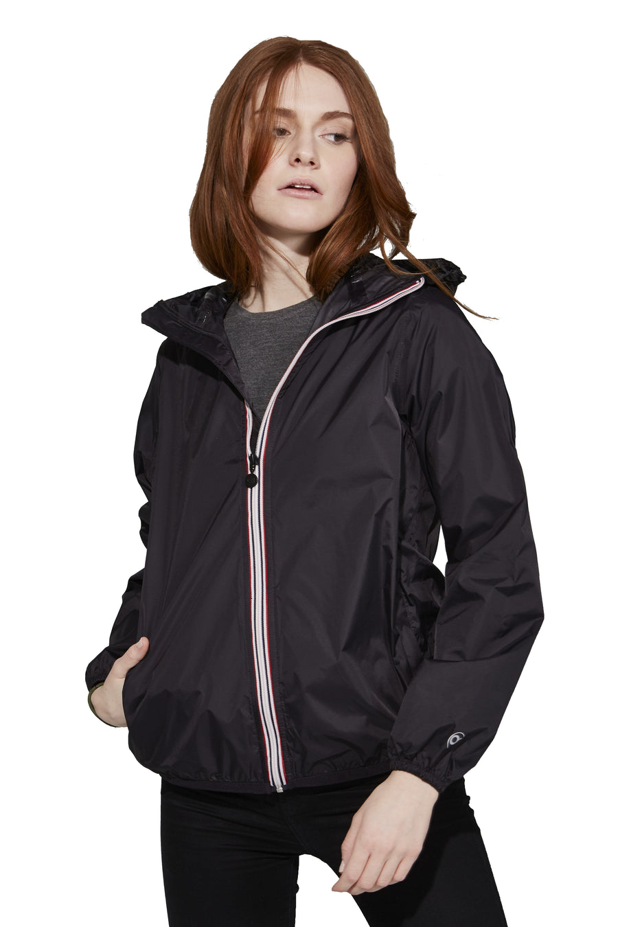 Packable Rain Jacket - Black