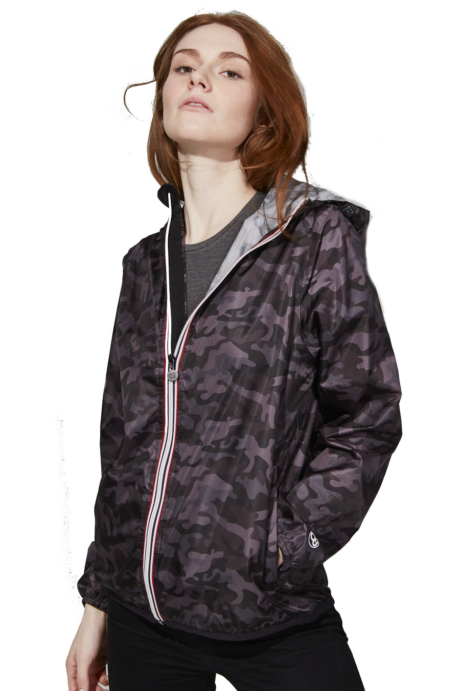 Packable Rain Jacket - Black Camo