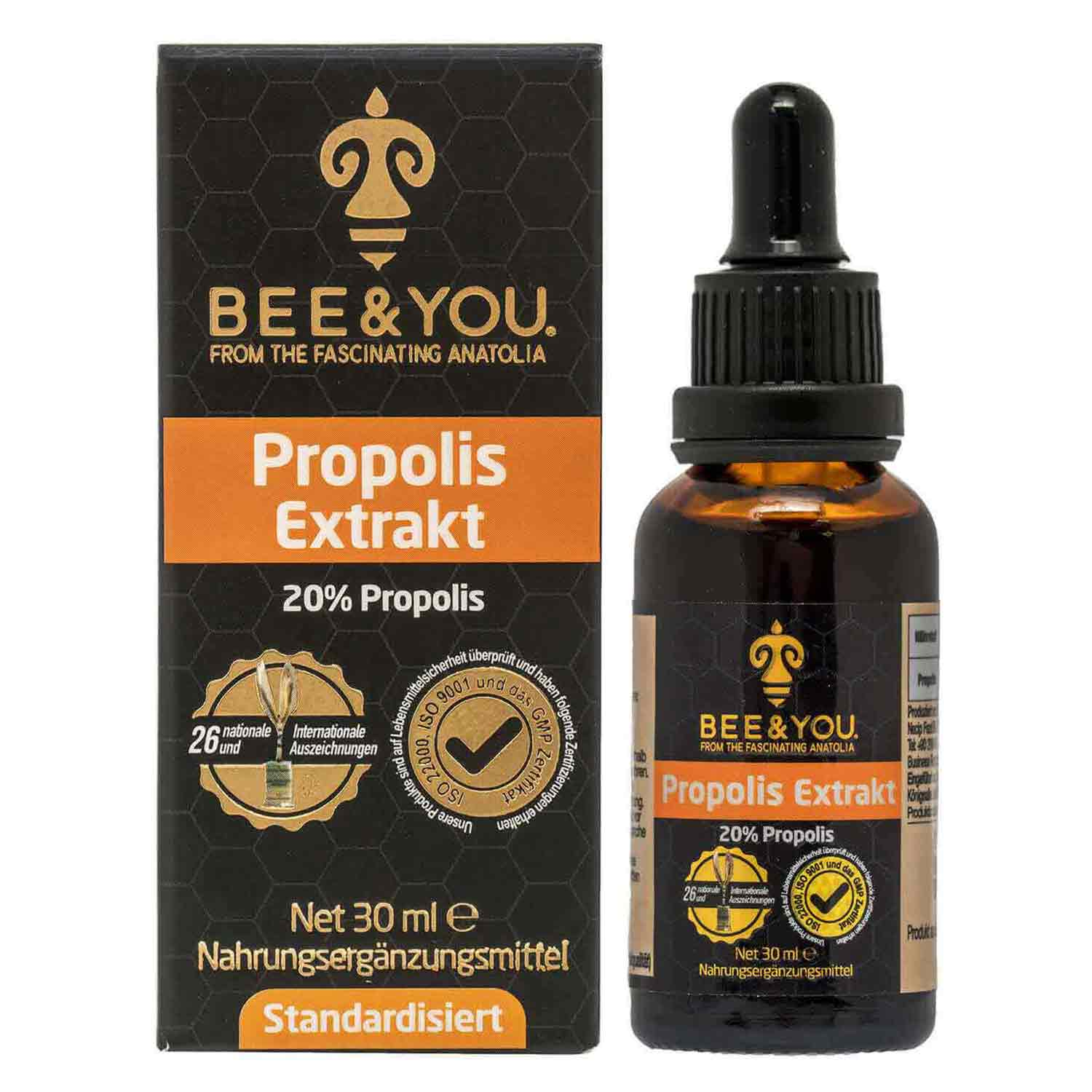 Propolis Extract Tincture 20% Pure Propolis Extract  - 30 ml