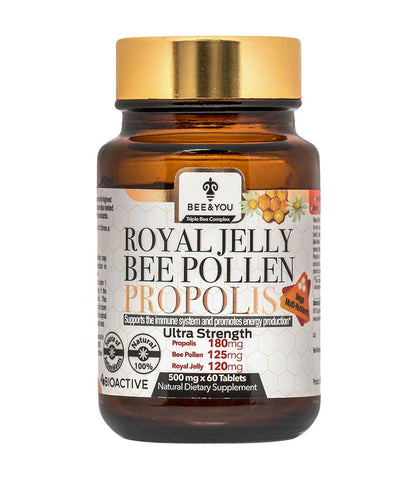 propolis, royal jelly, pollen tablet