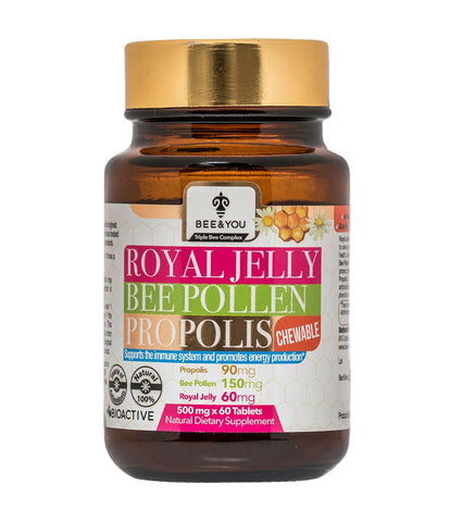 propolis, royal jelly, pollen chewable tablet