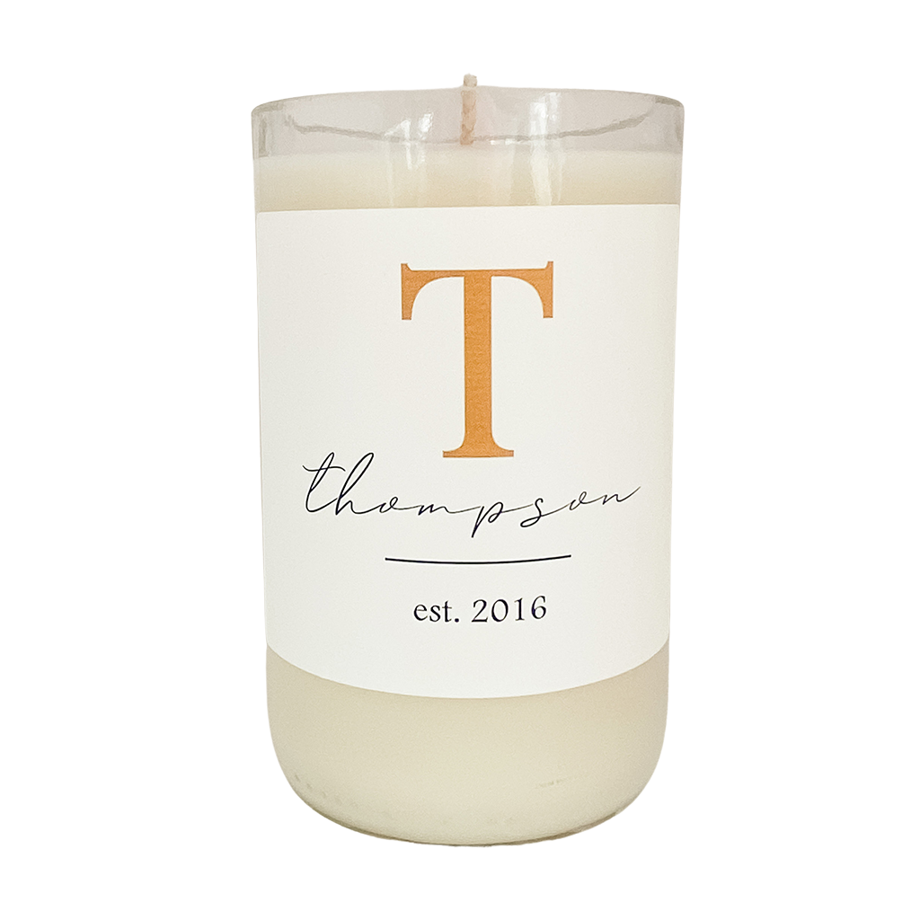 Personalized Initial - Soy Candle