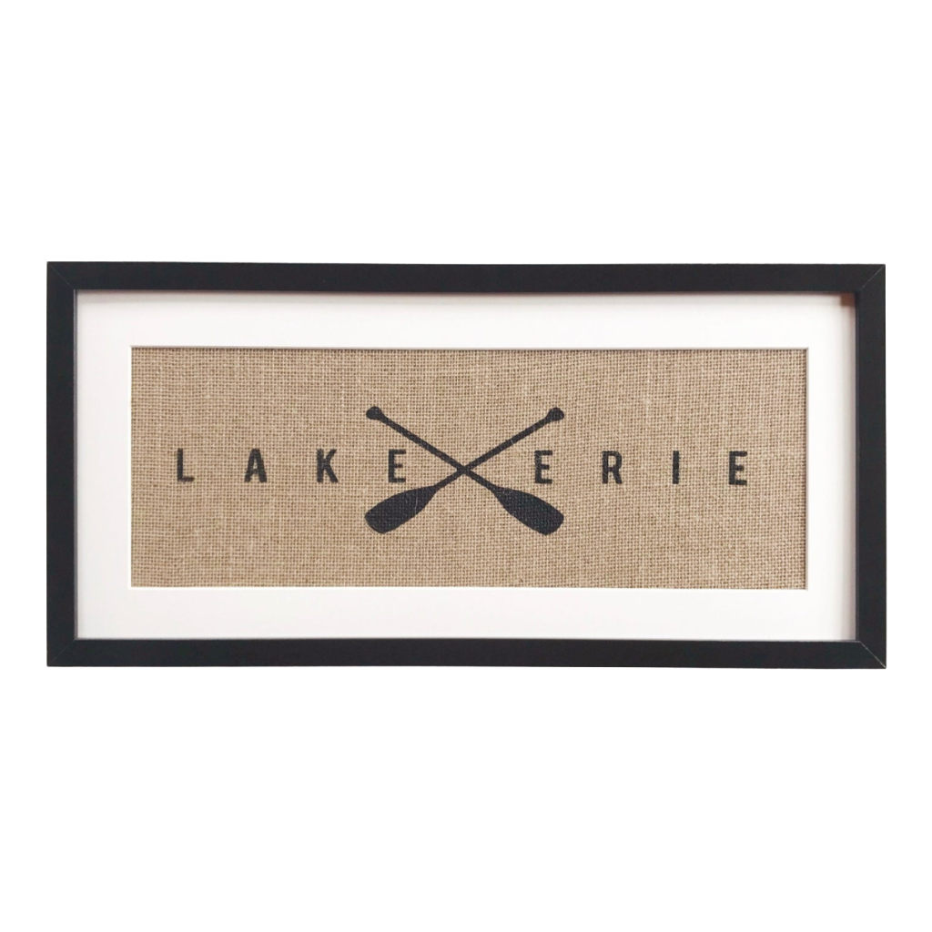 Lake Erie Framed Burlap Print