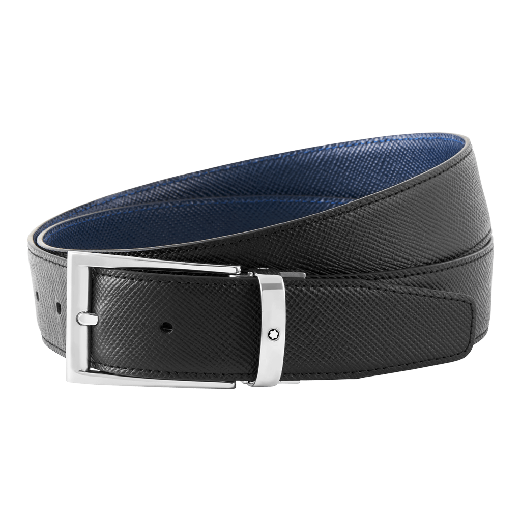 Trapeze Shiny Palladium-Coated Pin Buckle Belt