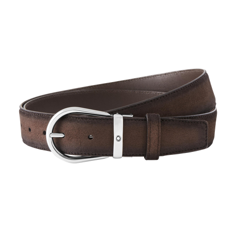 Brown cut-to-size casual belt