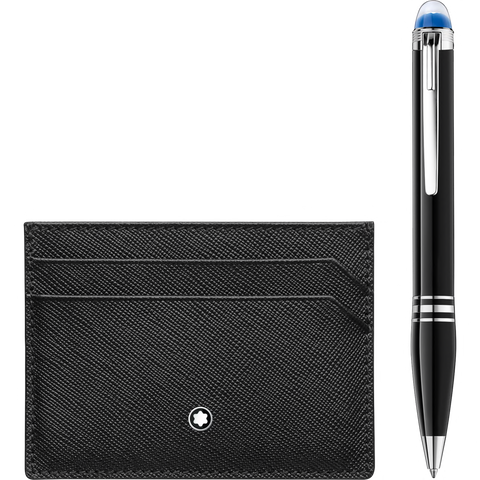 Gift Set with StarWalker Resin Ballpoint and Montblanc Sartorial pocket holder 5cc Black