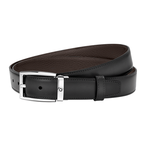Brown/gray reversible cut-to-size business belt