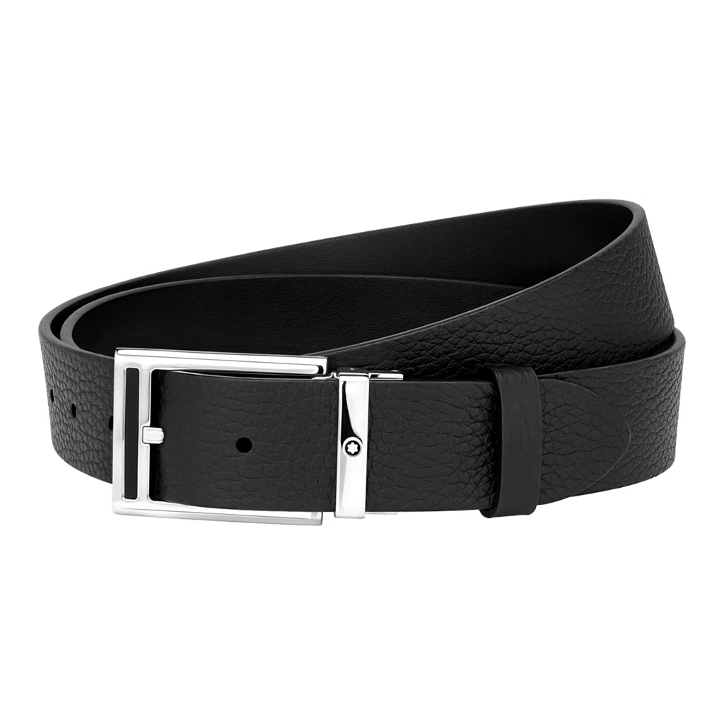 Black cut-to-size casual belt