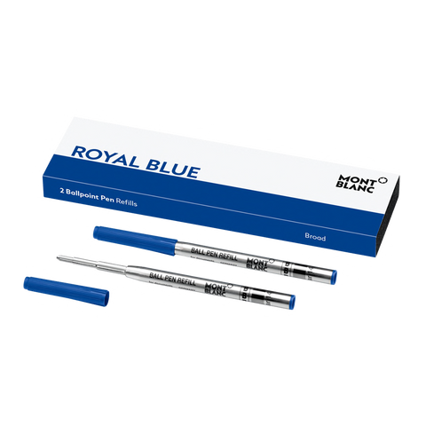 2 Ballpoint Pen Refills (B) Royal Blue