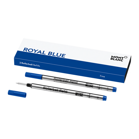 2 Rollerball Refills (F), Royal Blue