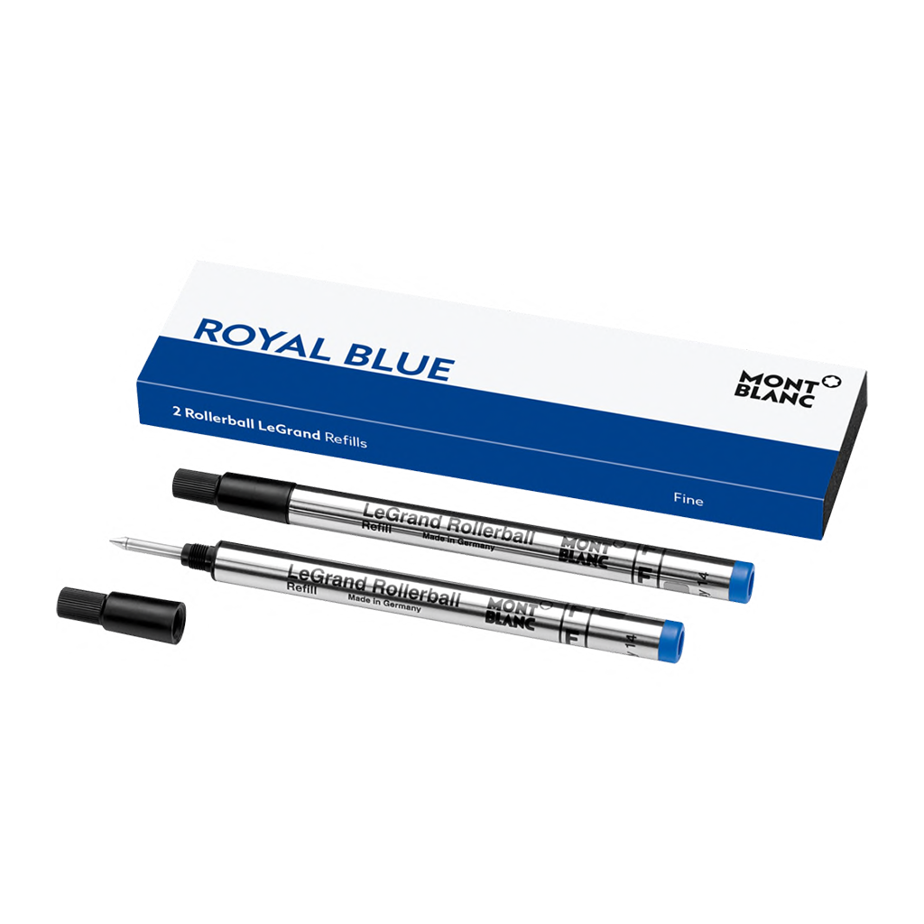 2 Rollerball LeGrand Refills (F), Royal Blue