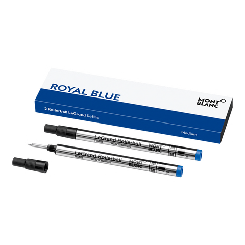 2 Rollerball LeGrand Refills (M), Royal Blue