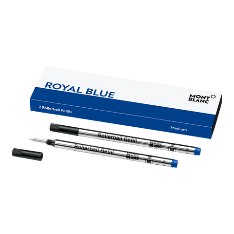 2 Rollerball Refills (M), Royal Blue