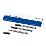 3 Rollerball Small Refills (M), Royal Blue
