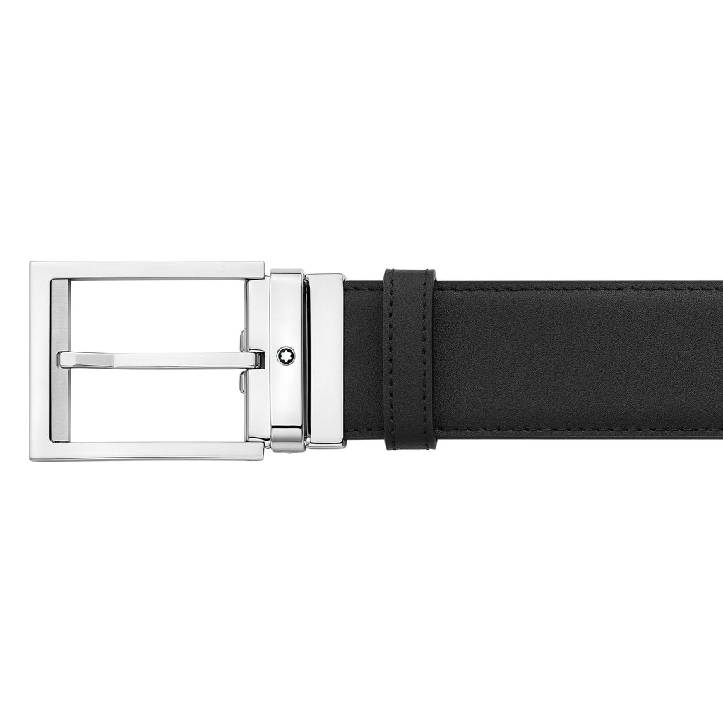 Rectangular Shiny&Matt Palladium-Coated Pin Buckle Belt