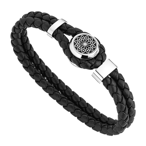 Homage to Victor Hugo Bracelet Leather Steel