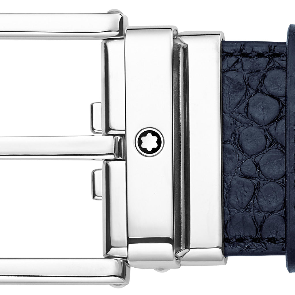 Square Shiny Palladium-Coated Pin Buckle Belt