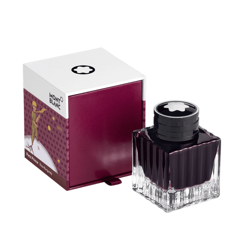 Ink Bottle 50 ml, Petit Prince and Planet, Burgundy