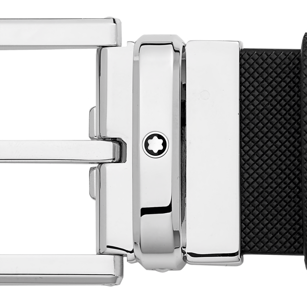 Shiny Rectangular Roller Palladium-Coated Pin Buckle Belt