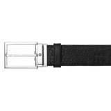 Shiny Square Palladium-Coated Pin Buckle Belt