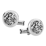Cufflinks Dot Pattern Steel PVD Black
