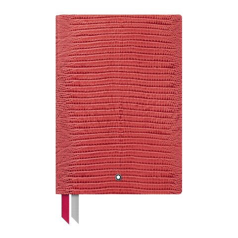 Notebook  #146  Lizard Print, Cardinal Red