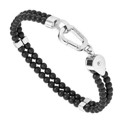 Wrap Me Bracelet Onyx and Steel