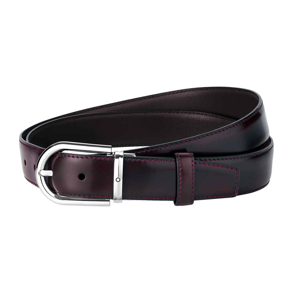 Horseshoe Shiny Palladium-Coated Pin Buckle Belt