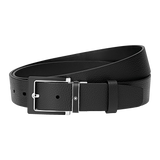 Squared Stainless Steel and Black Matt PVD Insert Pin Buckle Belt