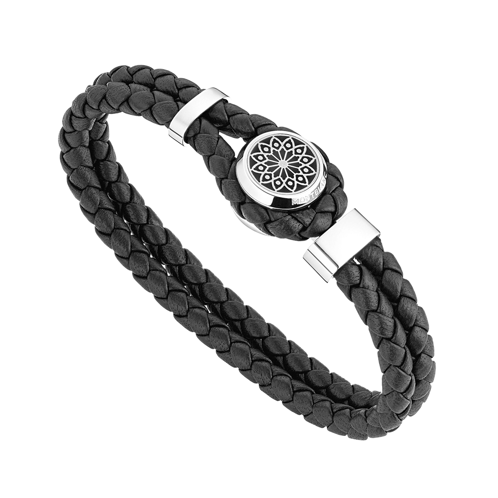 Hommage to Victor Hugo Bracelet in Leather and Steel