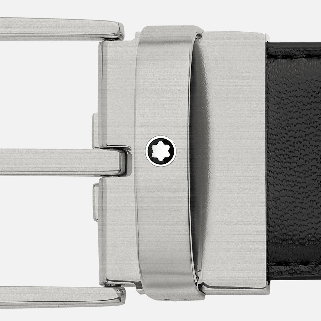 Trapeze Matte Titanium Pin Buckle Belt