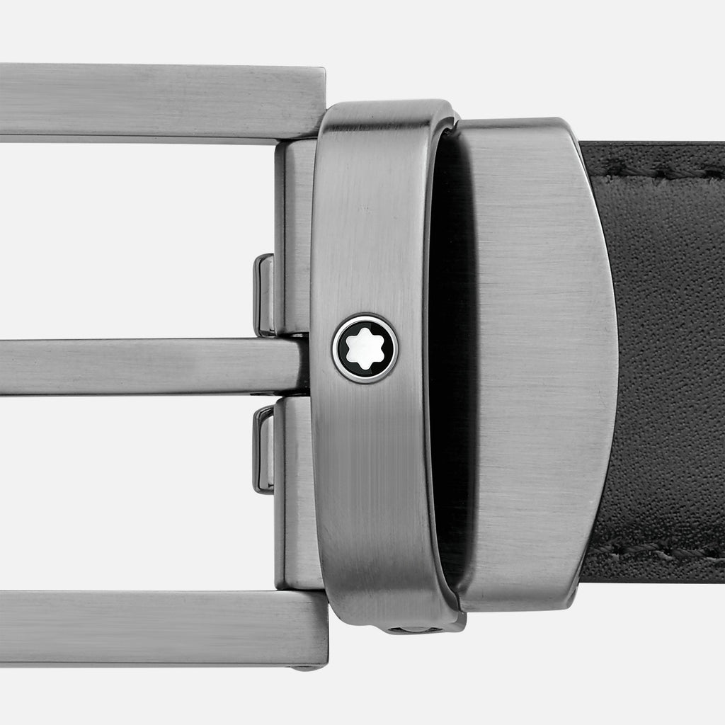 Rectangular Stainless Steel Matte Dark and Brown Gold-Coated PVD Detailing Pin Buckle Belt