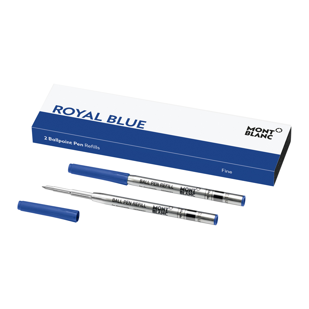 2 Ballpoint Pen Refills (F) Royal Blue