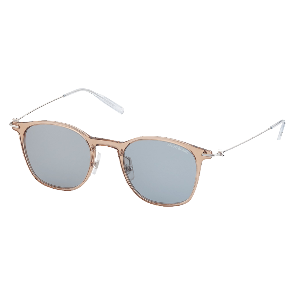 Round Injected Brown Frame Sunglasses