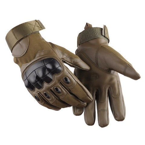 Military Tactical PU Leather Gloves - Military-Equipment-Shop