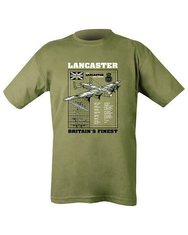 Printed Army Green T-Shirt Lancaster - Military-Equipment-Shop