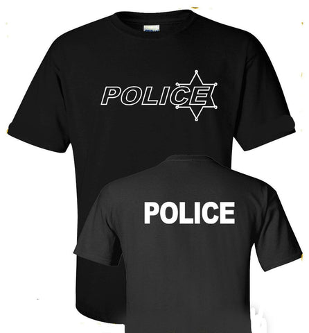 Printed Black or Green T-Shirt Police - Military-Equipment-Shop