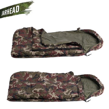 Outdoor Sleeping Bag in Camouflage Pattern - Military-Equipment-Shop