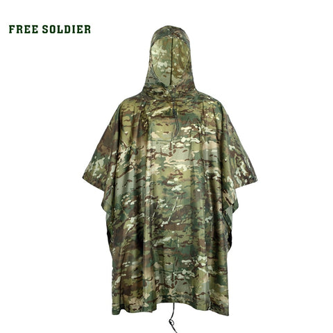 Multifunctional Camouflage Rain Poncho - Military-Equipment-Shop