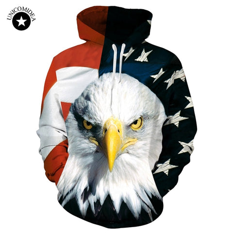 USA Eagle 3D Hoodie - Military-Equipment-Shop