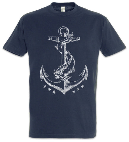 Printed Blue T-Shirt Anchor - Military-Equipment-Shop