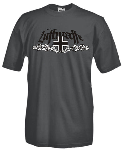 Printed Gray T-Shirt Luftwaffe - Military-Equipment-Shop