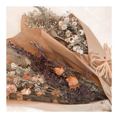 Bunches of dried flowers