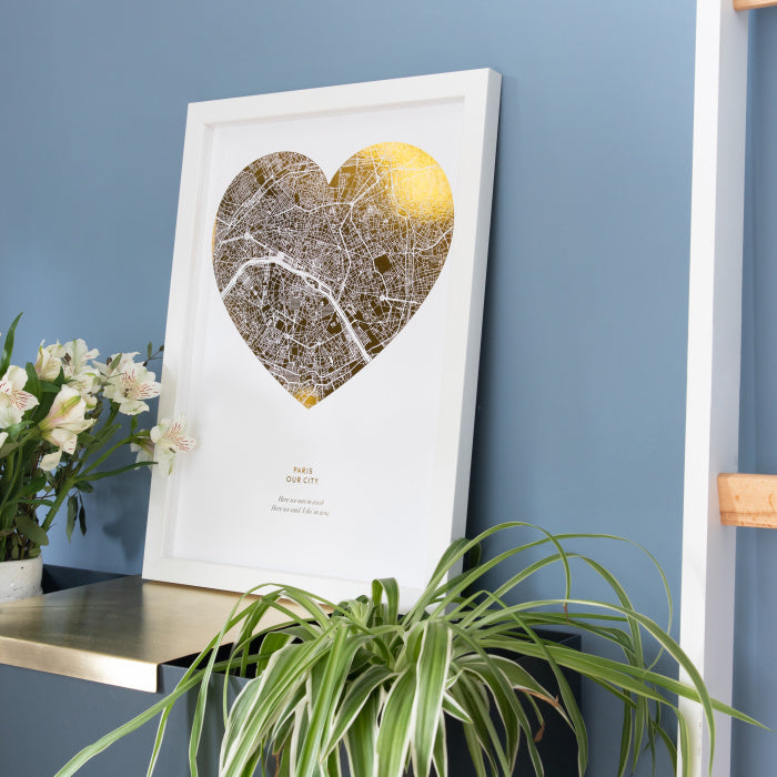 Metallic Heart Print Wedding Luxury Gift Personalised