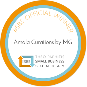 Amala Curations by MG Theo Paphitis Small Business Sunday Winner Logo