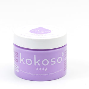 Kokoso Organic Coconut Oil - Purple Container with White Lid