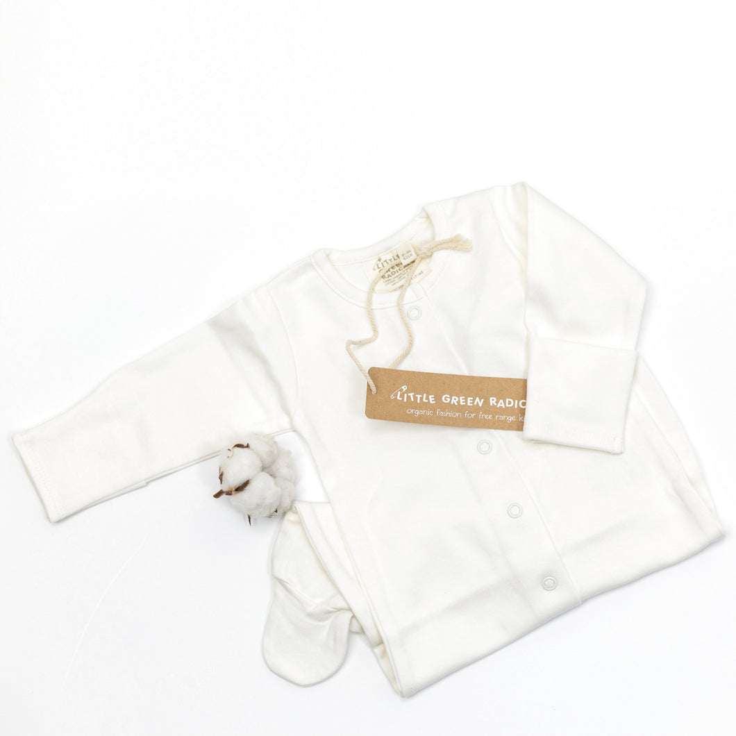 Organic Cotton Long Sleeve Babygrow (0-3m)