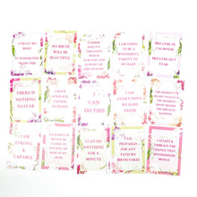 Load image into Gallery viewer,  Amala Curations Set of 15 Pregnancy & Birth Affirmation cards