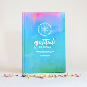 Happi Empire Gratitude Journal Blue and Purple - mind shifting exercises to feel happy, positive & loved