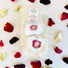 Load image into Gallery viewer, Quintessentially English Heart Organic Bath Bombs with Red Roses